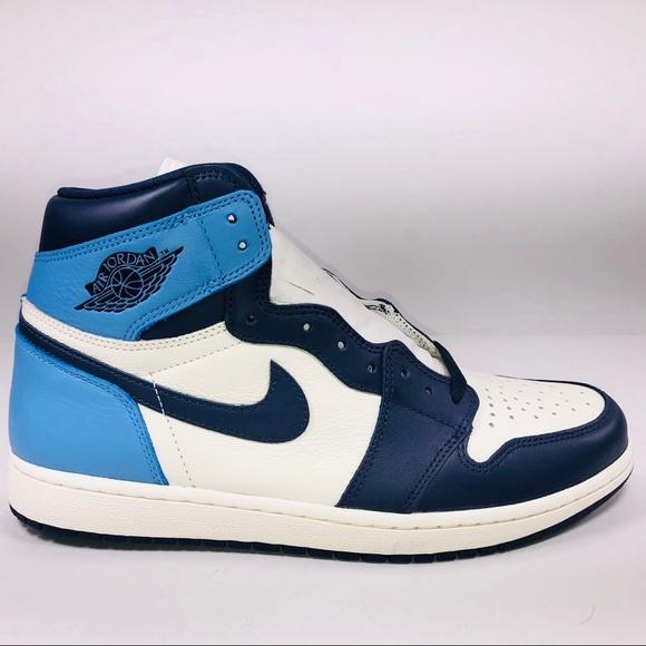 quality design bd255 29269 Air Jordan Retro 1 High OG Obsidian UNC Sneakers NWT